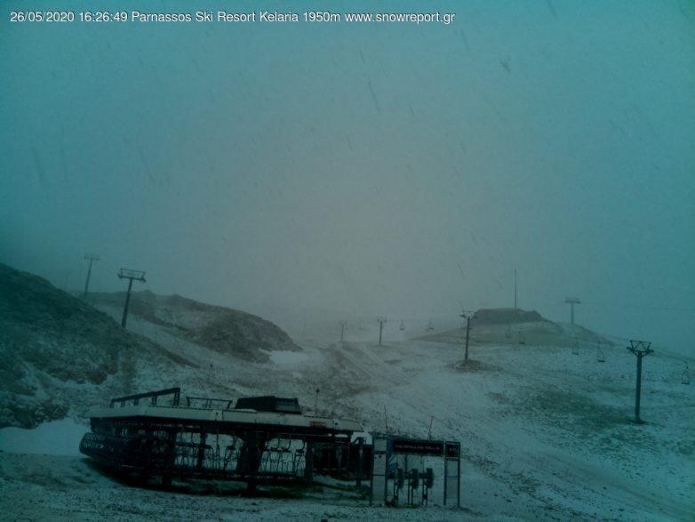 Χιονόπτωση στον Παρνασσό