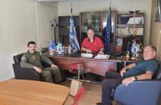 Συνάντηση δημάρχου Ρήγα Φεραίου με το νέο Ταξίαρχο 1ΗΣ ΤΑΞΑΣ Στεφανοβικείου