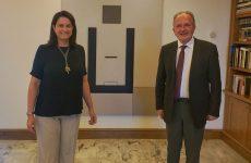 Συνάντηση βουλευτή Μαγνησίας της ΝΔ Αθανάσιου Λιούπη με την Υπ. Παιδείας