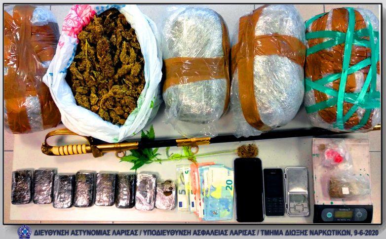 Με κιλά κάνναβης συνελήφθησαν στη Μαγνησία