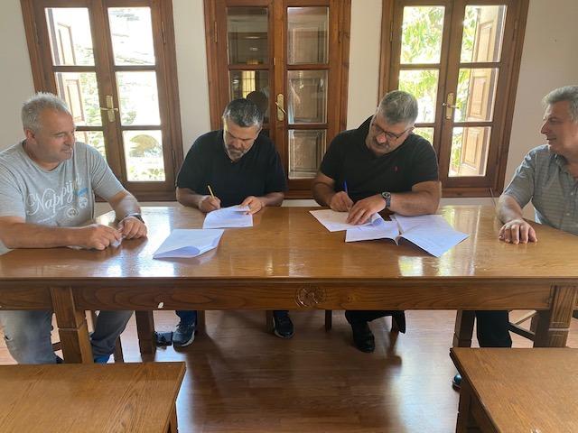 Σύμβαση για το έργο αποκατάστασης ζημιών στις Αφέτες