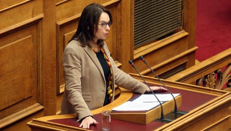 H Κ.Παπανάτσιου στη Διαρκή Επιτροπή Οικονομικών κατά τη συζήτηση του σ/ν του Υπουργείου Οικονομικών για τις Μικροπιστώσεις