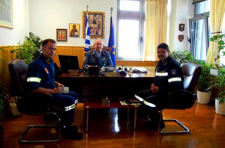 Εθιμοτυπική επίσκεψη Περιφερειακού Διοικητή Πυροσβεστικών Υπηρεσιών Θεσσαλίας στη ΓΕΠΑΔ Θεσσαλίας