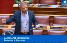 Ο Αλ. Μεϊκόπουλος για τον κίνδυνο αποκλεισμού αδιόριστων εκπαιδευτικών λόγω παραβόλου