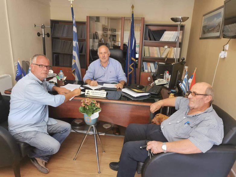 Υπογράφηκε η σύμβαση για το έργο αποχέτευσης ακάθαρτων Αγ. Γεωργίου & Αερινού