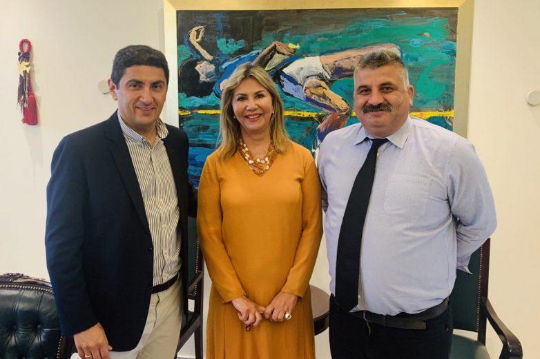 Συνάντηση δημάρχου Νοτίου Πηλίου με υφυπουργό Αθλητισμού και γ.γ. Υπουργείου Παιδείας και Θρησκευμάτων
