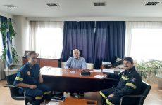 Επίσκεψηνέου περιφερειακού διοικητή Π.Υ. Θεσσαλίαςστoν συντονιστή Αποκεντρωμένης Διοίκησης Θεσσαλίας – Στερεάς Ελλάδας