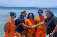 Συνεχάρη ναυαγοσώστες που έσωσαν λουόμενο ο δήμαρχος Νοτίου Πηλίου