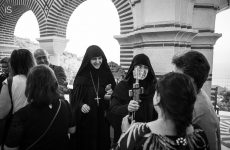 Ρασοφορία νέας μοναχής στην μονή Παμμεγίστων Ταξιαρχών Πηλίου