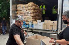 Διανεμήθηκαν τα προϊόντα σε ωφελούμενους ΤΕΒΑ του Δήμου Νοτίου Πηλίου