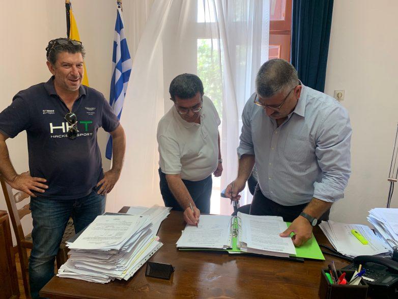 Υπογραφή σύμβασης ολοκλήρωσης εργασιών του νέου Δημαρχείου