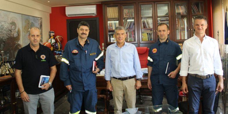 Στον περιφερειάρχη Θεσσαλίας Κώστα Αγοραστό ο νέος περιφερειακός διοικητής Πυροσβεστικών Υπηρεσιών Θεσσαλίας, Αρχιπύραρχος, Νικόλαος Μπαλσής