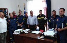 Την ηγεσία της Πυροσβεστικής Υπηρεσίας Θεσσαλίας υποδέχθηκε ο δήμαρχος Νοτίου Πηλίου