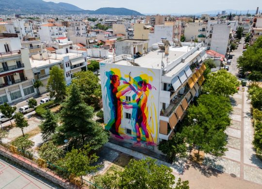 """Ολοκληρώθηκε η πρώτη τοιχογραφία του φεστιβάλ τοιχογραφιών """"CityCall"""""""