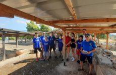 Επίσκεψη της ποδηλασίας της Νίκης Βόλου στον αρχαιολογικό χώρο Δημητριάδας