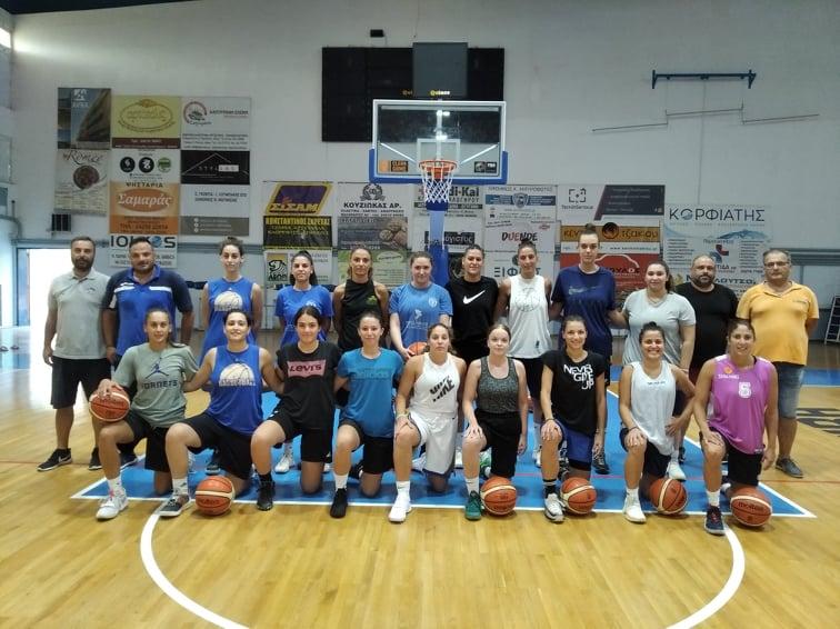 Πρώτη προπόνηση της γυναικείας ομάδας μπάσκετ της Νίκης Βόλου