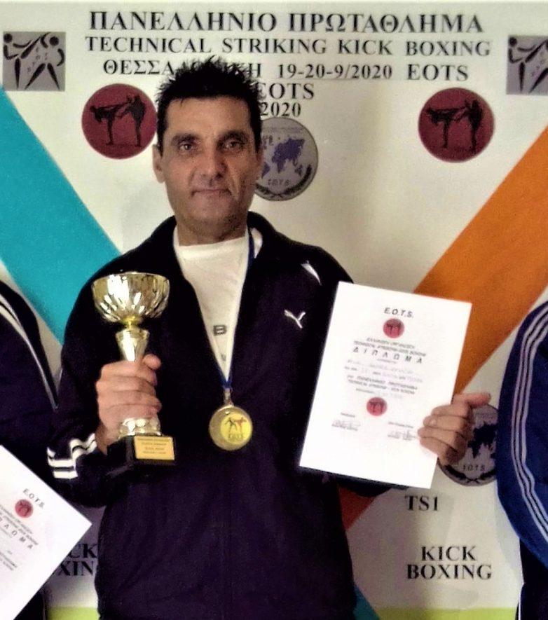 Στο υψηλότερο σκαλί του βάθρου ο Ανδρέας Κεχαγιάς στο Πανελλήνιο πρωτάθλημα