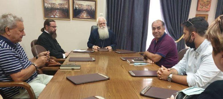 Συνάντηση μητροπολίτη με το νέο Δ/Σ του Συλλόγου Φίλων του Σουρλίγκειου Γηροκομείου Καναλίων