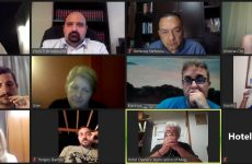Τηλεδιάσκεψη εφ' όλης της ύλης μεταξύ Ένωσης Ξενοδόχων Μαγνησίας -γ.γ. Χρ. Τριαντόπουλου