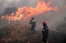 Δύο φωτιές σε αγροτική έκταση στις Σερβανάτες Αγίου Λαυρεντίου