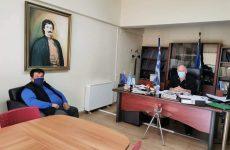 Συνάντηση δημάρχου Ρήγα Φεραίου -προέδρου Α.Ε.ΜΑ