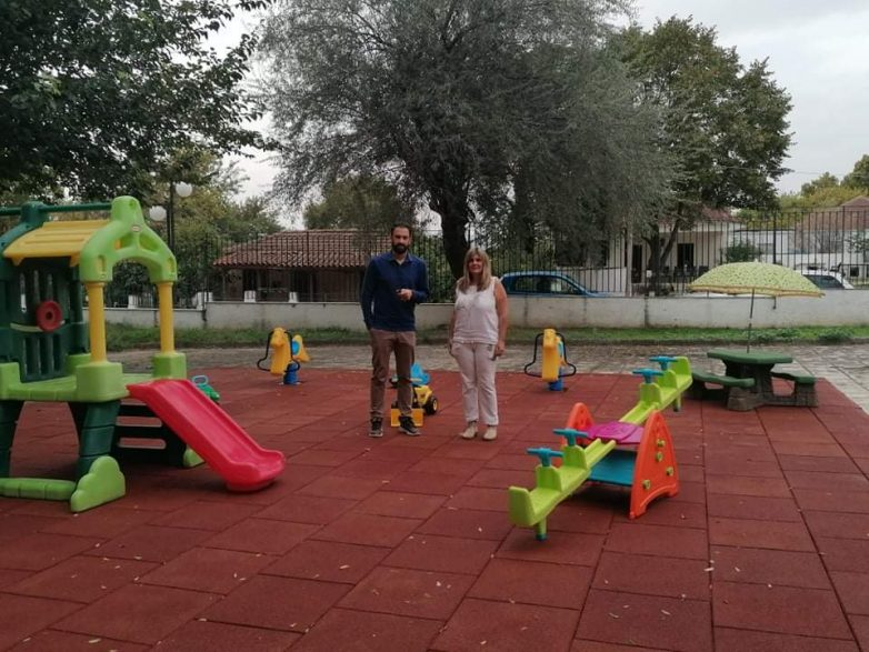 Πιστοποιημένη παιδική χαρά στον Παιδικό Σταθμό Ριζομύλου