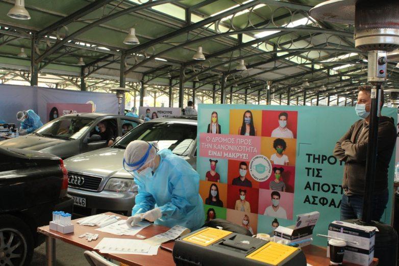 Συνεχίζονται τα «Drive through Rapid testings» για τον κορωναϊό  σε όλη την Θεσσαλία