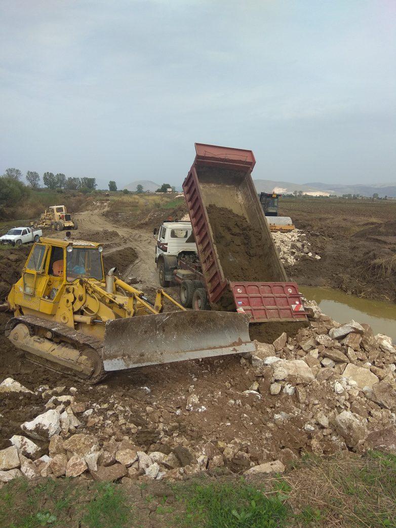 Έργα αποκατάστασης στηνκοίτη του Πάμισου ποταμού μετά τις καταστροφές του Ιανού