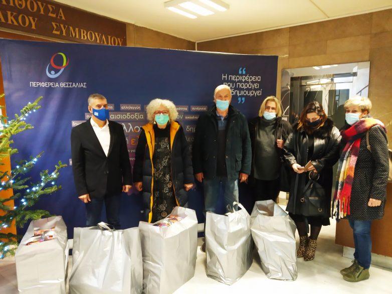 Τα δώρα της Περιφέρειας Θεσσαλίας έφτασαν και φέτος σε παιδιά που τα έχουν περισσότερο ανάγκη