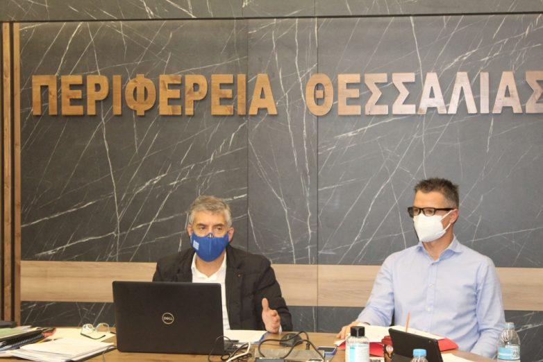 Ενημέρωση του Περιφερειακού Συμβουλίου Θεσσαλίας για την αντιμετώπιση της πανδημίας του κορωναϊού