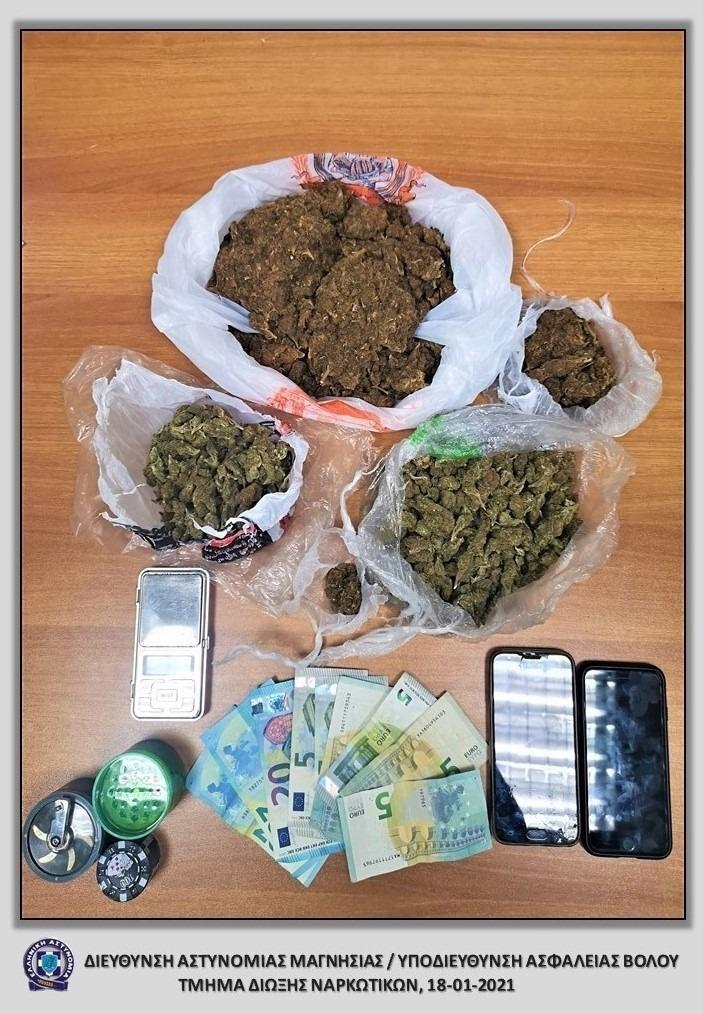 Συνελήφθη με μισό κιλό κάνναβη