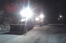 Πρώτο χιόνι στα Χάνια Πηλίου και στην Όθρυ
