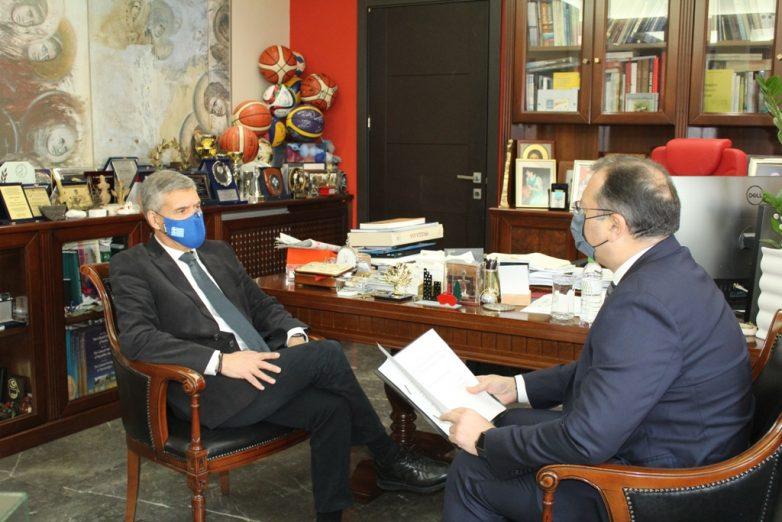 Συνάντηση περιφερειάρχη Κ. Αγοραστού με το νέο υφυπουργό Γ. Στύλιο