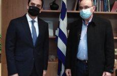 Συνάντηση συντονιστή Αποκεντρωμένης Διοίκησης Θεσσαλίας-Στ. Ελλάδας Κ. Παππά με τον υπουργό Κώστα Σκρέκα
