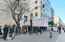 Πορεία φοιτητών στον Βόλο κατά της πανεπιστημιακής αστυνομίας