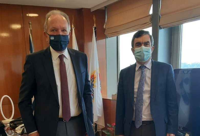 Συνάντηση Αθανάσιου Λιούπη με τον υφυπουργό Προστασίας του Πολίτη