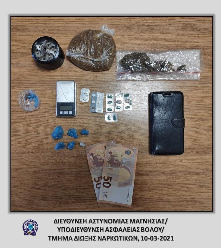 Συνελήφθη με ηρωίνη, κάνναβη  και χάπια