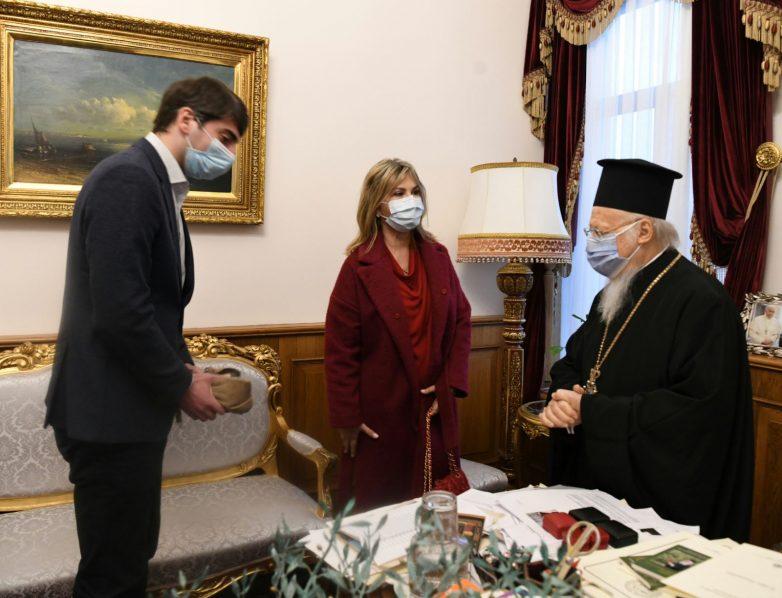 Η Ζέττα Μακρή με τον Οικουμενικό Πατριάρχη Βαρθολομαίο