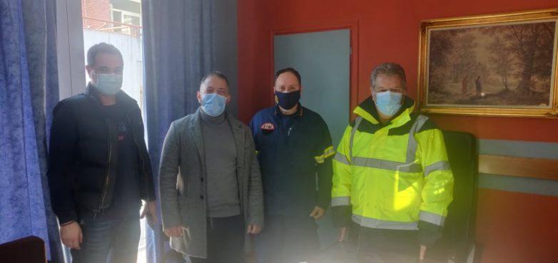 Ο Αλ. Μεϊκόπουλος στην Πυροσβεστική Υπηρεσία Βόλου
