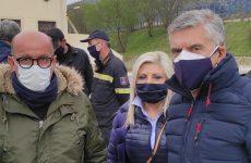 Η υφυπουργός Παιδείας και Θρησκευμάτων Ζέττα Μακρή στις πληγείσες περιοχές Λάρισας και Τρικάλων
