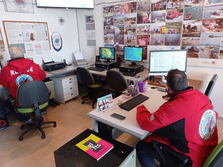 Εθελοντές της ΕΟΔ Μαγνησίας στο Δομένικο