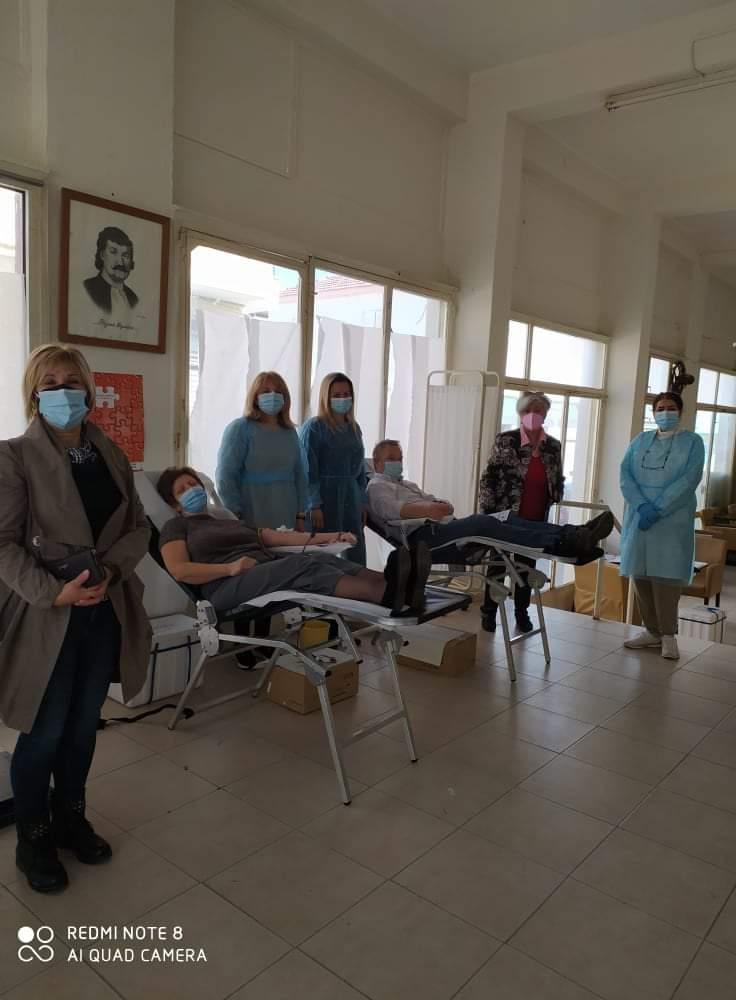 Αιμοδοσία της Τράπεζας Αίματος Δήμου Ρήγα Φεραίου
