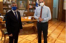 Συνάντηση πρωθυπουργού -περιφερειάρχη Θεσσαλίας για αγροτικές αποζημιώσεις, φράγματα, σεισμό, Ιανό και Αχελώο