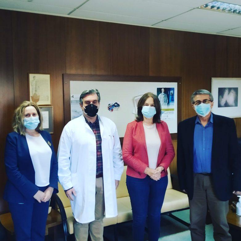 Επίσκεψη Κ. Παπανάτσιου στο Γενικό Νοσοκομείο Βόλου