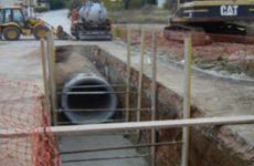 Κατασκευή δικτύων αποχέτευσης ομβρίων στο Ριζόμυλο