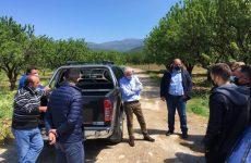 Χρ. Τριαντόπουλος: Σε αγροτικές περιοχές της Μαγνησίας μαζί με τον πρόεδρο του ΕΛΓΑ