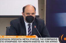 Χρ. Τριαντόπουλος: Αυξημένη αποζημίωση ειδικού σκοπού για τις επιχειρήσεις που υπόκεινται σε περιοριστικά μέτρα