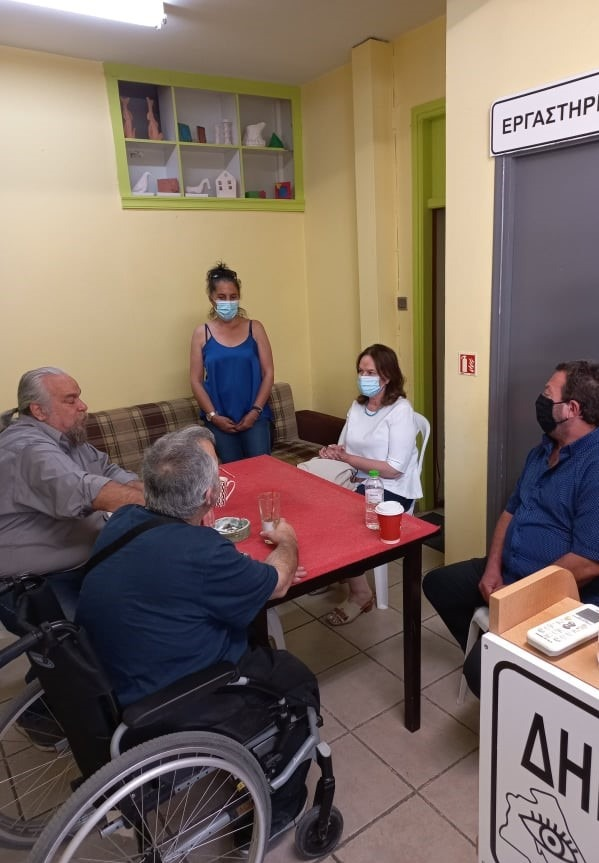 """Επίσκεψη Κ. Παπανάτσιου στο σωματείο ατόμων με αναπηρία όρασης """"Μαγνήτες Τυφλοί"""""""