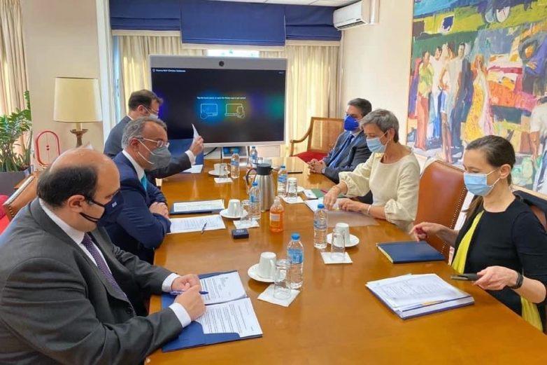 Συμμετοχή Τριαντόπουλου σε συναντήσεις με την αντιπρόεδρο της Ευρωπαϊκής Επιτροπής