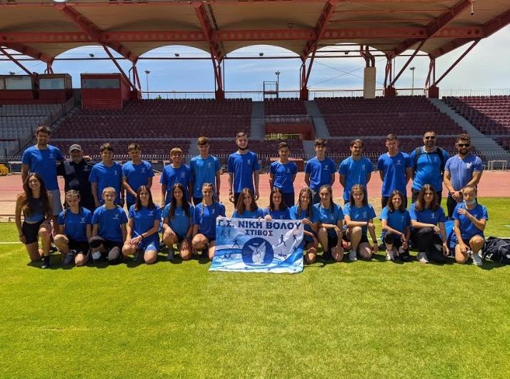 Πρωτιές κι εξαιρετικές επιδόσεις της Νίκης Βόλου στο Διασυλλογικό Πρωτάθλημα στίβου Κ16